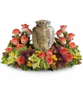 Sunset Wreath Urn
